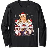 Feliz Navidad Catmas Pijamas de regalo Niñas Niños Mujeres Manga Larga