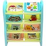 Baybee Ergo Plus Storage Organizer for Kids  Multi Purpose Storage Box and Racks Toy Organizer for Kids Room (Corner Shelf)  