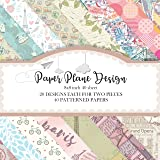 Paper Plane Design Multiple Pattern Craft Sheets   40 Assorted Designs Pack for Cricut, Silhouette Cameo, Craft Cutters, Prin