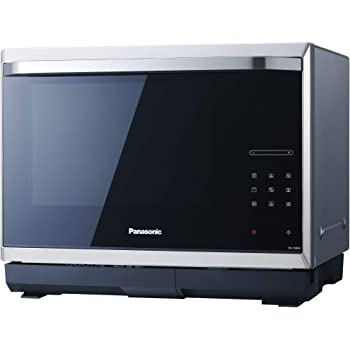 Panasonic NN-CS894SEPG / Dampfgarer, Inverter, Grill und Ofen /  4in1-Mikrowelle / 1000 Watt / 32 L / einbaufähig / Schwarz-Edelstahl