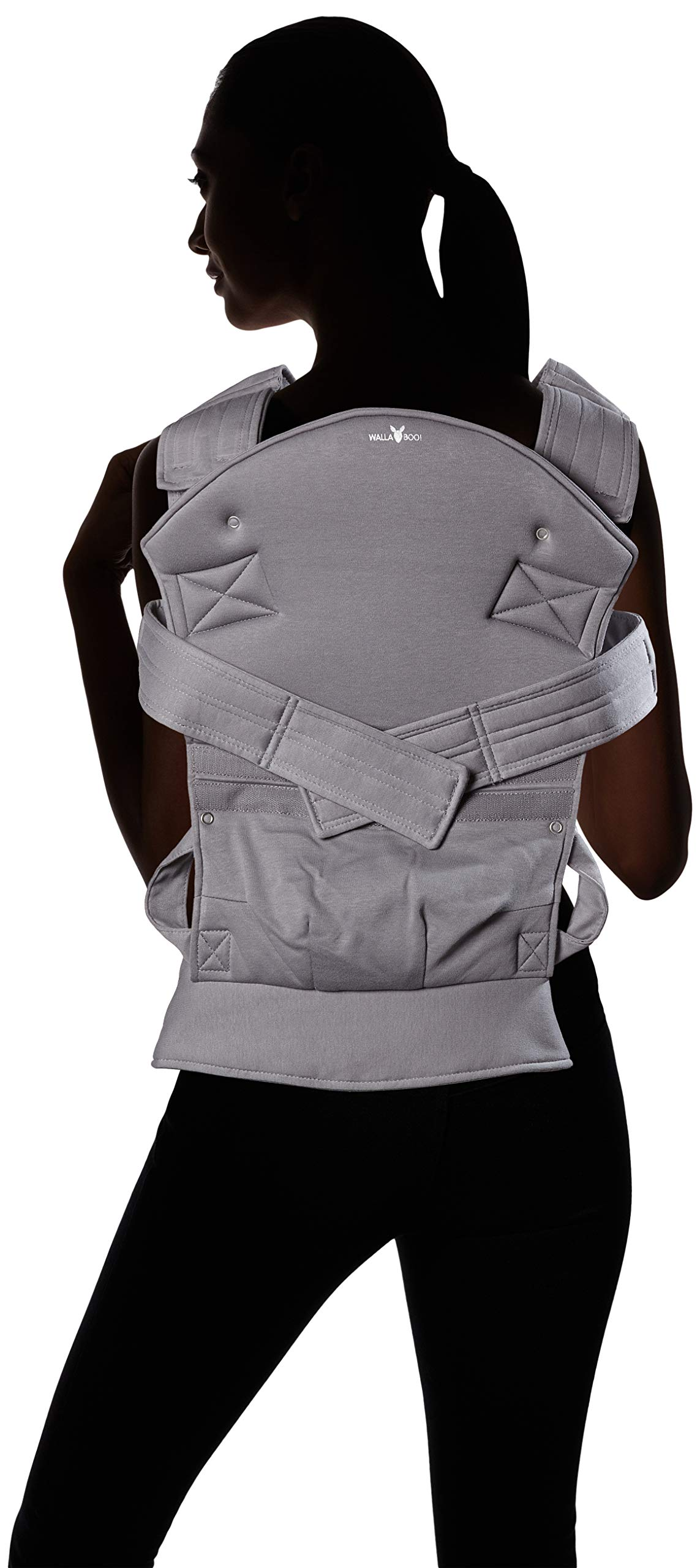 Wallaboo Baby carrier Ease, Hig Quality, Easy Adjustable and Ergonomic Front Carrier, 2 carrying poitions, Strong 100% cotton, Newborn 8lbs to 33lbs, Colour: Grey Wallaboo Ergonomic carrying with wide leg position (m-position) Sturdy waist belt and padded shoulder straps. Age suitability: babies from 3,5kg / 8 lbs to 15kg / 33 lbs. Walla boo baby carrier is made with 100% breathable cotton, makes baby feel comfortable and cozy 10