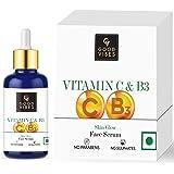 Good Vibes Vitamin C & Vitamin B3 Skin Glow Serum, 30 ml With Anti Aging Properties Helps Reduce Fine Lines and Wrinkles, Nat