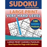 Sudoku Large Print: 100 Sudoku Puzzles with Very Hard Level - One Puzzle Per Page with Solutions (Brain Games Book 6…