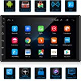 ANKEWAY 2020 New 7 Inch 2 DIN Android 9.1 DSP/RDS/FM/AM Car Stereo Bluetooth/WiFi Internet Multimedia Car Radio GPS Navigation 1080P HD Touch Screen BT Hands-Free Calling+Reversing Camera+Double USB