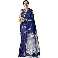 VARKALA SILK SAREES Women's Banarasi Silk Saree With Unstitched Blouse Piece