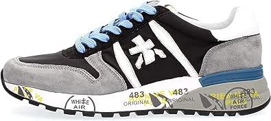 PREMIATA Sneakers Uomo Lander 5196 Camoscio Tessuto Grigio Nero