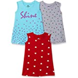 SOUTH SAILOR Baby Girls Cotton a-line Girls Dress (Multicolor_3 Months to 6 Years) Pack of 3