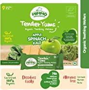 Mimmo Organics Tender Yums , 100% Certified Organic , Apple Spinach Kale , Lactose and Gluten Free Teething Biscuits , Baby