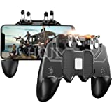 Ceuta Retails® Mobile Game Controller with 4 Triggers Compatiple for PUβG/COD Mobile Fotnite [6 Finger Operation], L1R1…
