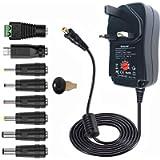 Universal Power Adapter AC Charger - 12V 9V 7.5V 6V 5V 4.5V 3V 1000mA 1A 2A Multi Voltage DC Power Supply