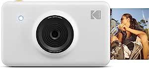 Kodak Mini Shot Wireless Sofortbild Digitalkamera Weiß 2x3 Zoll Druck Mit Patentierter 4 Pass Drucktechnologie