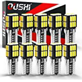 W5W T10 501 LED Bulb, OUSHI Canbus Error Free 194 168 2825 12V Extremely Bright 6500K Xenon White Replacement For Car…