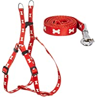 DreamAuro Soft, Durable & Adjustable Dog Harness with Leash Rope Set for Medium & Large Dogs (Red)