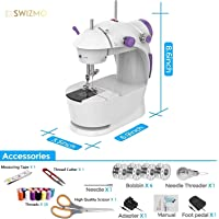 Swizmo Mini Sewing Machine Kit for Home Use