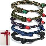 zooting Set di 5 bracciali Intrecciati per Uomo Donna, Bracciale Marino colorato in Corda Marina Marina per Uomini Uomini Rag