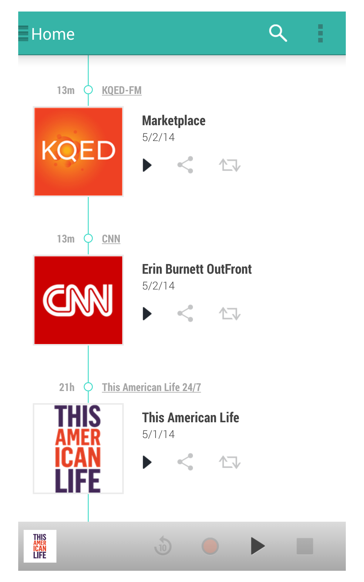 TuneIn Radio Pro Screenshot