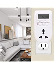 Suzec Heavy Duty Energy Saving Socket Type Digital Programmable Electronic Timer (White)