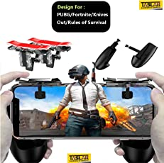 Taslar Mobile Game Controller, Gamepad Aim Keys Joystick for PUBG/Fortnite/Knives Out/Rules of Survival Gaming Triggers for iOS and Android