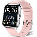 """chalvh Smartwatch Mujer, 1.69"""" Táctil Completa Reloj Inteligente, Reloj Deportivo con Podómetro y Caloría, Pulsómetro, Monito"""