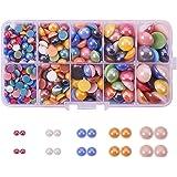 Pandahall–1bolsita de aproximadamente 1000cabujones redondos de plástico nacarado, de colores, de 10 mm para la creación