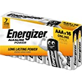 Energizer Batterijen AAA, Alkaline Power, 16 Stuks