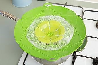 Smart Kitchen Gadgets Boil Over Stopper, Spill Preventer, Multi Function Universal Cooking Tool, Oven-Freezer-Dishwasher Safe