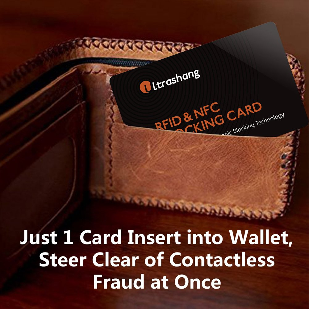4c1d3e91d8d3 RFID/NFC Blocking Card | Credit Card Protector | Ultimate Solution for  Protect Entire Wallet Purse Holder, Contactless Card Protection for Bank  Debit ...