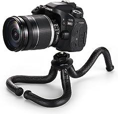 COOLWAY 12 Zoll Flexibles Mini Reise Stativ für DSLR/GoPro Aktion Kamera Traglast 1.5 kg