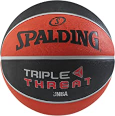 Spalding Triple Threat Basketball Size-7 (Black/Red)