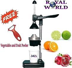 Royal World Aluminum Hand Press Manual Juicer (Black)