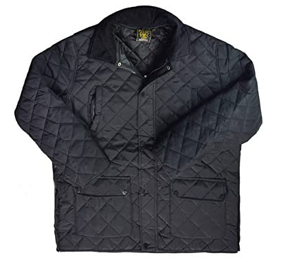 Mens Quilted Jacket Winter Warm Windproof Big Sizes 3XL 4XL 5XL ... : mens quilted coats uk - Adamdwight.com
