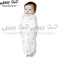 Square Infant Colorful Printed Cotton Adjustable Kassy Swaddle Wrap