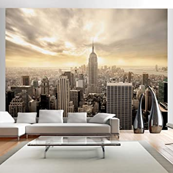 Wallpaper 300x231 Cm   Non Woven   Murals   Wall   Mural   Photo   3D    Modern   New York 100404 2: Amazon.co.uk: Kitchen U0026 Home Part 28