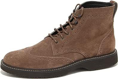 Hogan 8569N Stivaletto Uomo Demi Boot Winter Marrone Shoes Suede Men