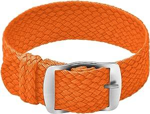 Ullchro Nylon Cinturini Orologi Alta qualità Perlon Intrecciata Tela di canapa Orologi Bracciale NATO - 14, 16, 18, 20, 22mm Cinturino Orologio Fibbia Dell'acciaio Inossidabile
