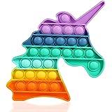 HiUnicorn Pop Its Rainbow Bubble Push Sensory Fidget Toy, Unicorn Toy Gift Pop Educational School Game Crafts for Kids Teen,
