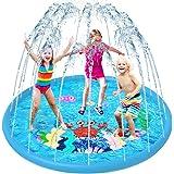 VATOS Splash Pad, Tapete de Juegos de Agua Aspersor de Juego Jardín de Verano Juguete Acuático para Niños Pulverización para