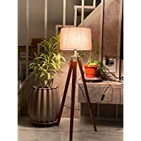 Paradise Nauticals Modern Designed Jute Fabric with Khadi Shade Wooden Italian Crafter Decorative Antique Tripod…