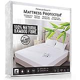 RIFIANS Protège Matelas 100% Fibre DE Bambou – Alèse 160 x 200 cm IMPERMÉABLE – Maintien Parfait - Drap Housse Confort Ultra-