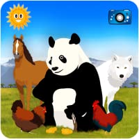 Finde sie alle : auf der Suche nach Tieren - Pädagogisches Spiel für Kinder - Entdeckung  von Bauernhof und Safari, rund um den Globus mit Fotos, Puzzles und Videos!