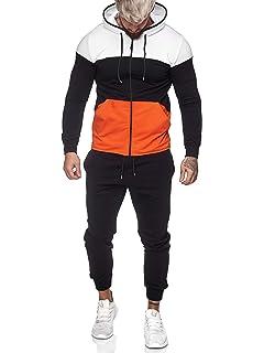 jogging jacke schwarz orange herren