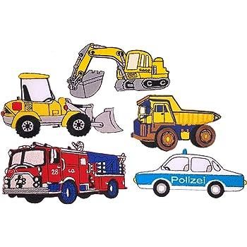 Traktor Trekker blau Applikation Aufbügler Aufnäher Patch Bügelbild Sticker