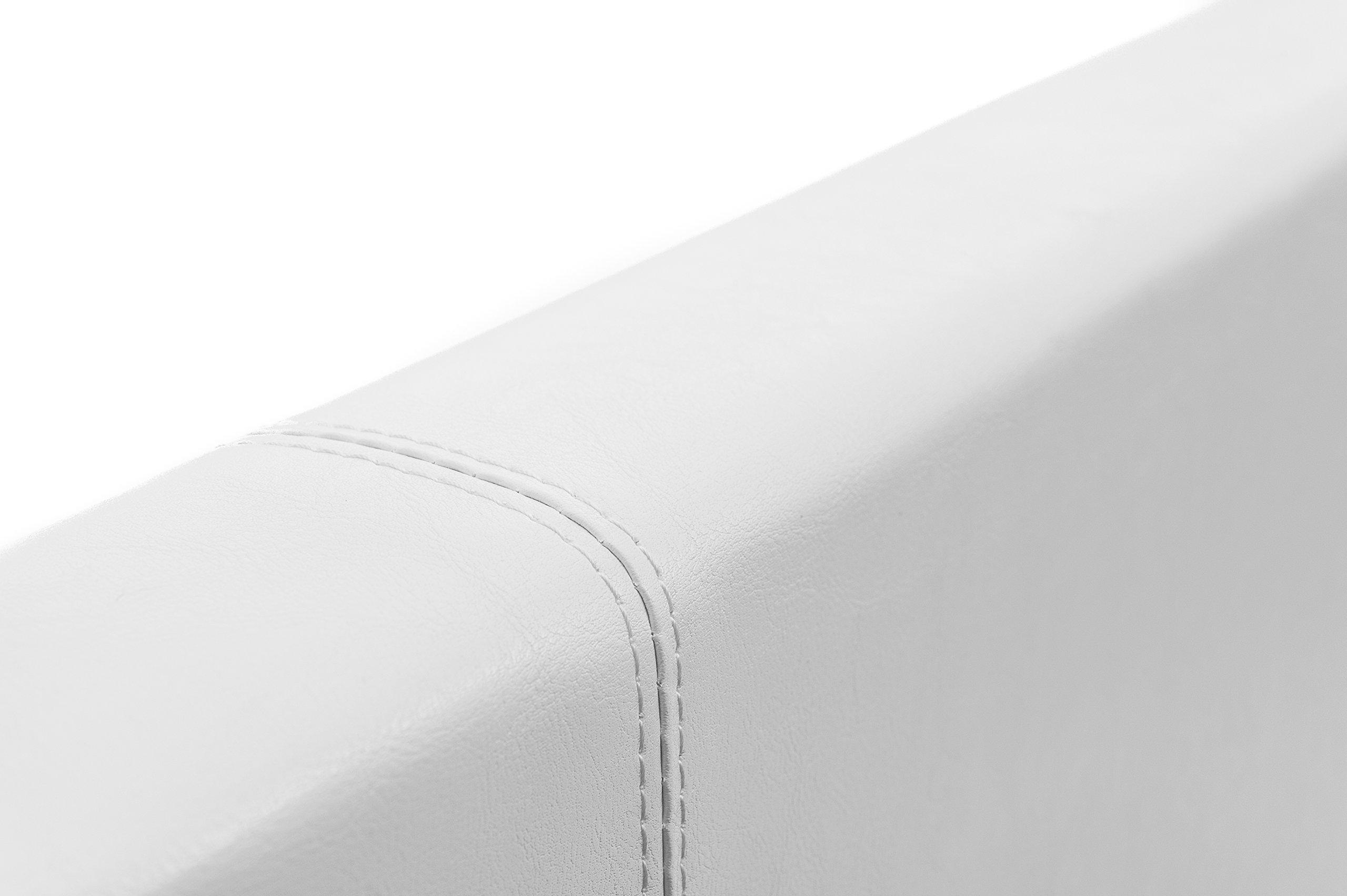 EuropeDirectShopping Lit Coffre Noir Luna Ottoman 800 litres despace de Stockage T/ête de lit Detachable 160x200