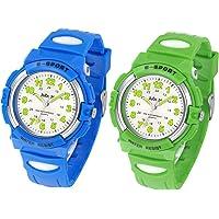 Juboos Kinderuhr Jungen Mädchen Analog Quartz Uhr mit Armbanduhr Kautschuk Wasserdicht Outdoor Sports Uhren-JU-001