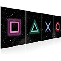 Bilder Spielkonsole Gamer Wandbild 160 x 50 cm Vlies - Leinwand Bild XXL Format Wandbilder Wohnzimmer Wohnung Deko…