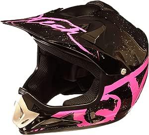 Rosa Casco Motocross per Bambino Moto Cross Enduro ATV MX BMX Quad Nero Opaco S 53-54cm