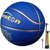 Senston Pallone da Basket di Gomma Unisex Palla da Basket con Pompa - Taglia 7