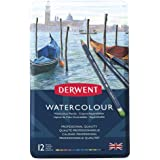 Derwent Watercolour Pencils, Set of 12, Professional Quality, 32881, M+C1029ulticolor