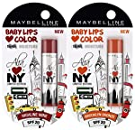 Maybelline Alia Loves New York Baby Lips Lip Balm, Highline Wine, 4g+Maybelline Alia Loves New York Baby Lips Lip Balm...