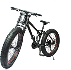 Sturdy Bike Limited Edition Dual Suspension Downhill Fat Mountain Bike (Black)